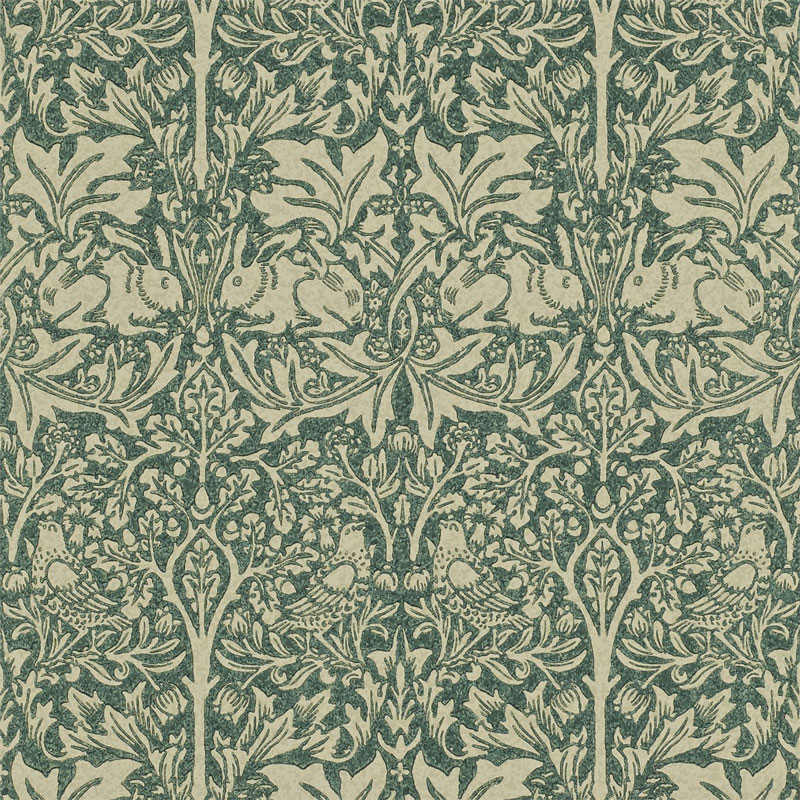 William Morris & Co. Wallpaper - Brer Rabbit Forest Manilla