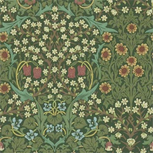 William Morris & Co. Wallpaper - Blackthorn Green