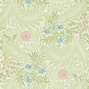 William Morris & Co. Tapet - Larkspur Green/Coral