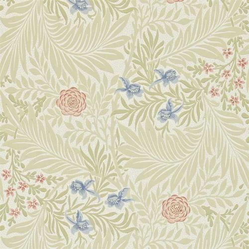 William Morris & Co. Tapet - Larkspur Manilla/Old Rose