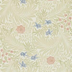 William Morris & Co. Tapet - Larkspur Manilla/Old Rose