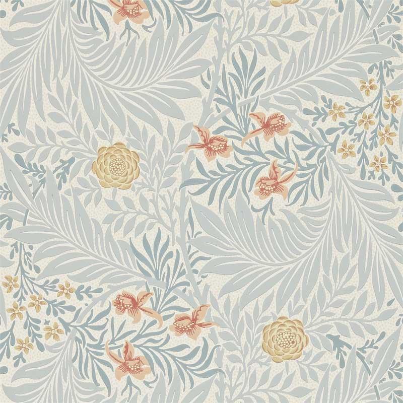 William Morris & Co. Tapet - Larkspur Slate/Russet