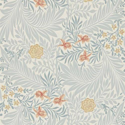 William Morris & Co. Tapet - Larkspur Slate/Russet