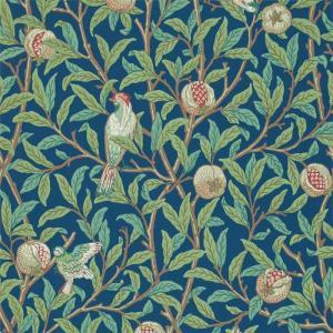 William Morris & Co. Wallpaper - Bird & Pomegranate Blue/Sage