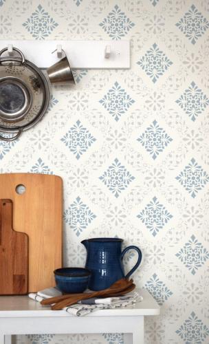 Duro Wallpaper - Dellen grey/blue