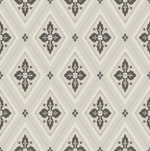 Duro Tapet - Astrid - Beige/Svart - sekelskiftesstil - gammaldags inredning - klassisk stil - retro