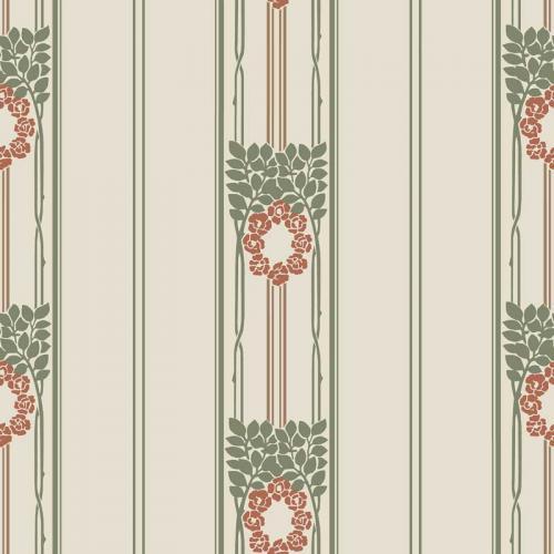 Duro Wallpaper - Ramsjö - Beige/Red