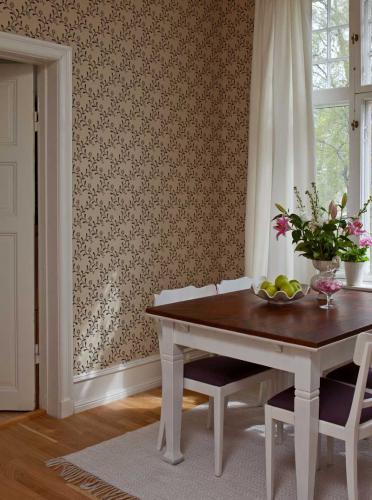 Duro Wallpaper - Elsagården - Beige/Svart