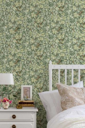 Duro Wallpaper - Lilla Dockekulla - Green