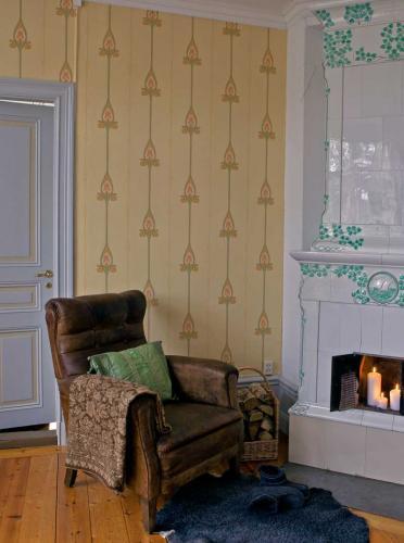 Duro Wallpaper - Gamla Grand - Yellow