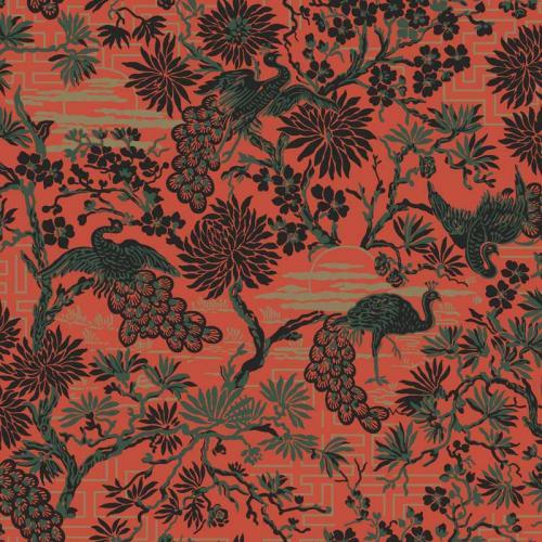Duro Wallpaper - Brunnsgatan - Red