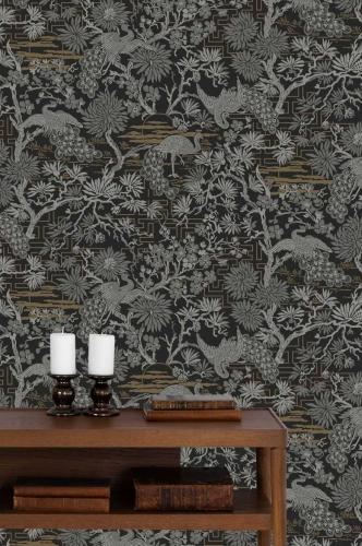 Duro Wallpaper - Brunnsgatan - Black