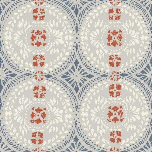 Duro Wallpaper - Oskar - Grey/Blue