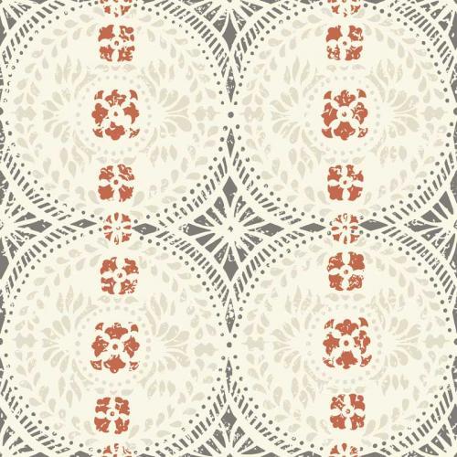 Duro Wallpaper - Oskar - White/Grey