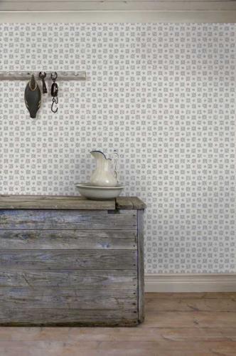 Duro Wallpaper - Karolina - Grey/Blue