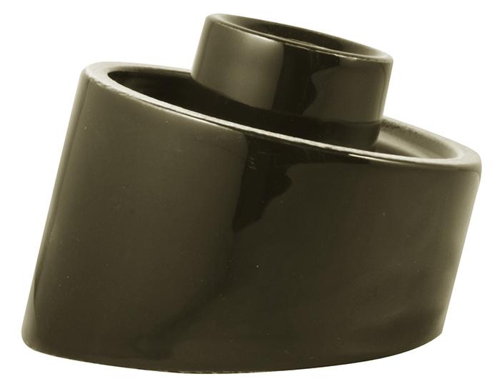 Porcelain light fixture base IP54 - Black/angled