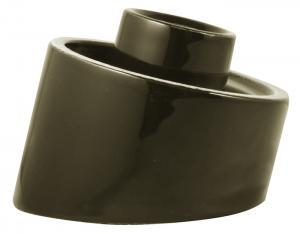Lampesokkel utendørs/våtrom - svart/skråstilt/kulo IP54