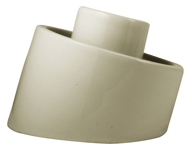 Porcelain light fixture base IP54 - White/angled