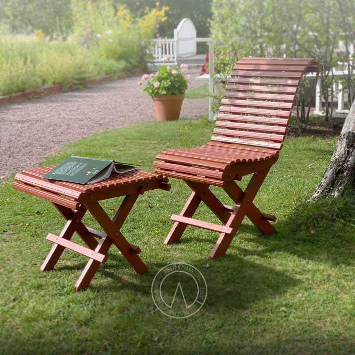 Trädgårdsstol - 1800-tal - sekelskiftesstil - gammaldags inredning - klassisk stil - retro