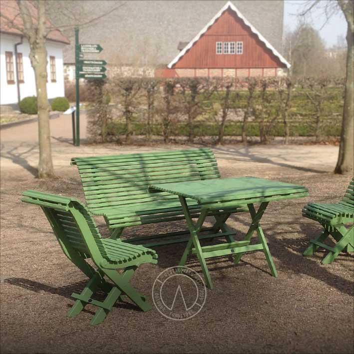 Kromoxidgrön trädgårdsstol - retro stil - modell från 1800-tal - Sekelskifte