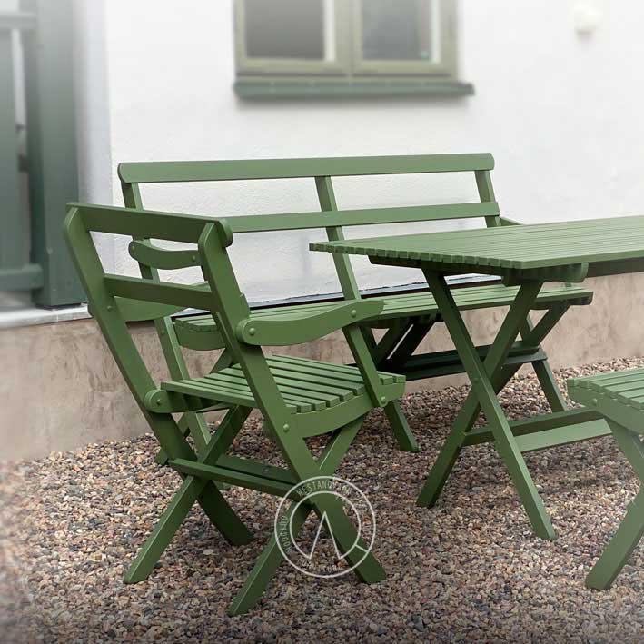 Trädgårdsbord - Tidigt 1900-tal, hopfällbart, 75 cm - sekelskiftesstil - gammaldags inredning - klassisk stil - retro
