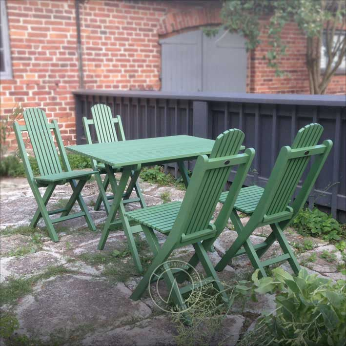 Green Garden Table - Jugend, foldable 75 cm - classic style
