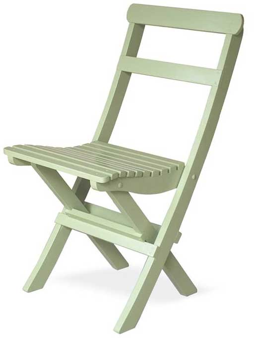 Light green Garden Chair - 1920s, foldable - classic style