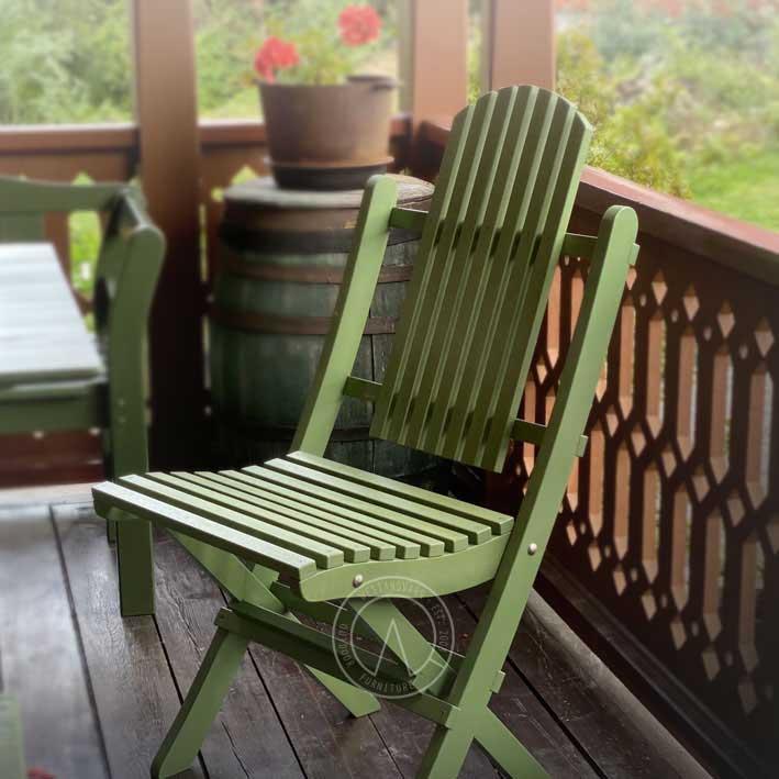 Hagestol - Veranda stol, sammenleggbar - arvestykke - gammeldags dekor - klassisk stil - retro