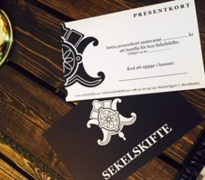 Gift Voucher - Sekelskifte - oldschool style - old style - old fashioned