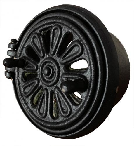 Rosette air vent - Cast Iron 105 mm
