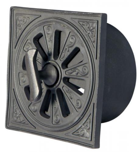 Rosette Valve - Black alu d=145 mm