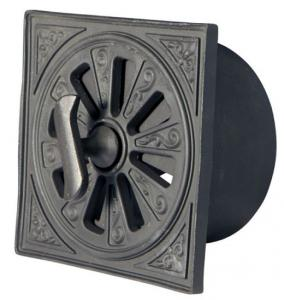 Rosette Ventilator - Black alu d=120 mm