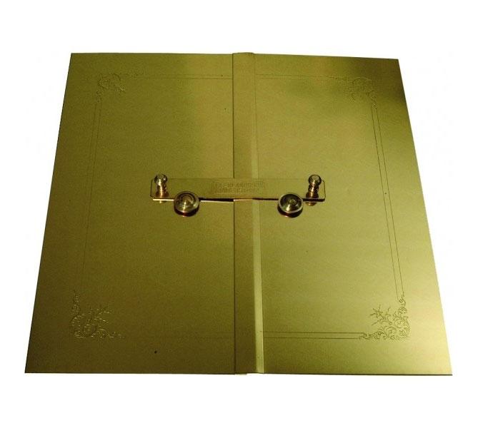 Doors for flat tiled stove - Brass, exterior doors