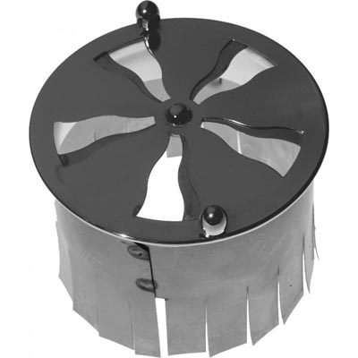 Spiral valve with anchor fore tiled stove - Nickel