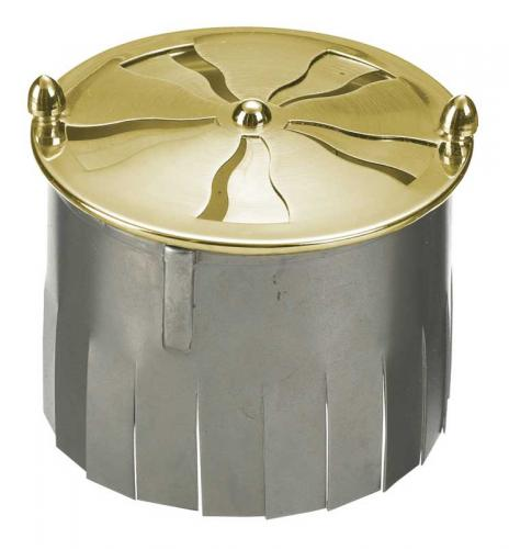 Spiral valve with anchor fore tiled stove - brass