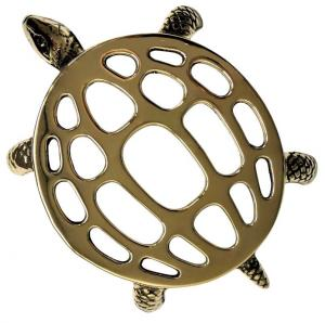 Trivet antique brass - Turtle