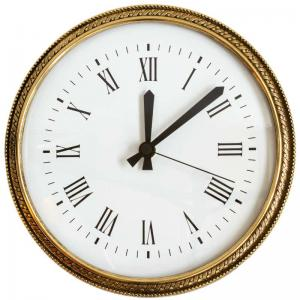 Clock in brass - Old style wall clock