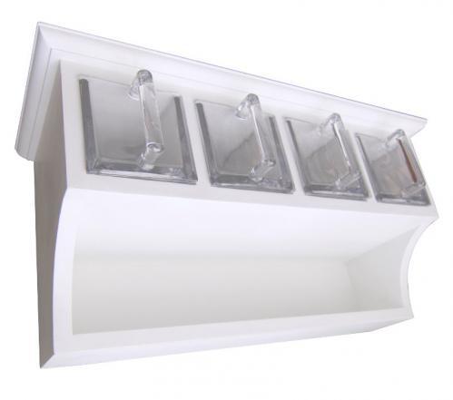 Kökshylla med fyra glaslådor - Sekelskifte - sekelskifte - gammaldags stil - retro - klassisk inredning