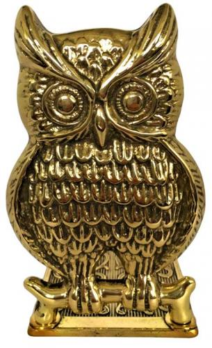 Bookend brass - Owl