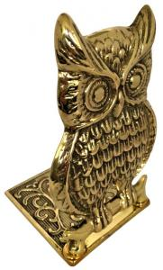 Bookend brass - Owl