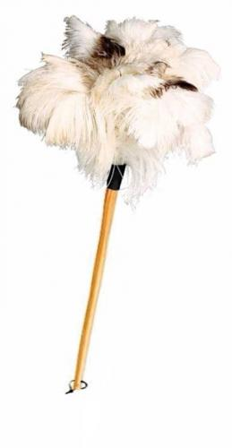 Featherduster - Ostrich, white