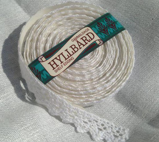 Shelf Edging - White cotton 2 cm