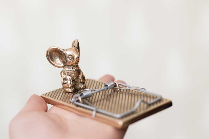 Gift ideas - Paper clip - Mouse trap brass - old style - vintage interior - old fashioned style - classic interior