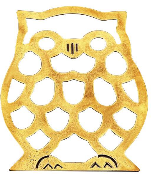Brass trivet - Owl