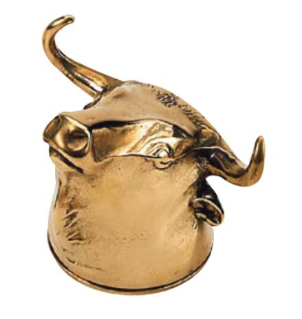 Bottle opener brass - Bull - old style - classic interior - old fashioned style - vintage