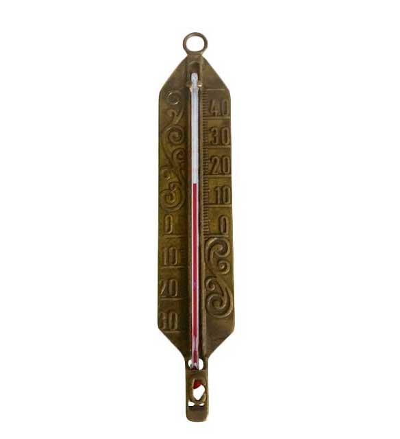 Termometer - Antikk messing - arvestykke - gammeldags dekor - klassisk stil - retro