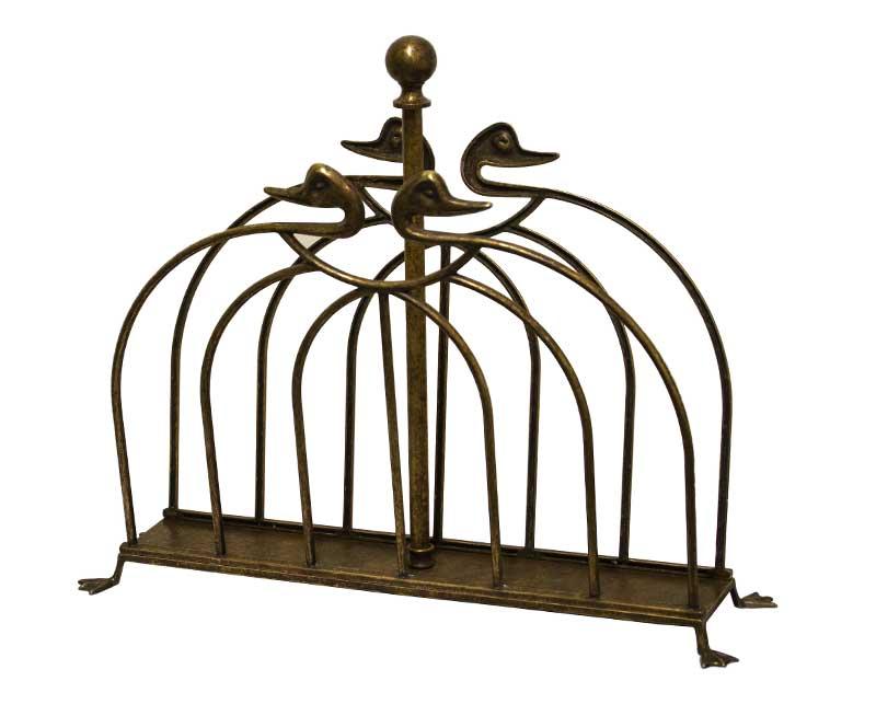 Magazine rack antique brass - Duck