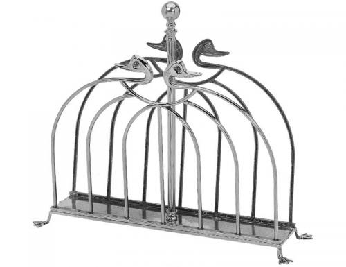 Magazine rack silver - Duck - Art Nouvou - old style - vintage interior - classic style - retro