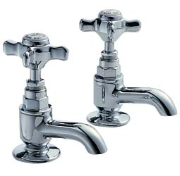 Traditional Basin Faucets -  Pegler chrome one pair - old style - oldschool - vintage interior