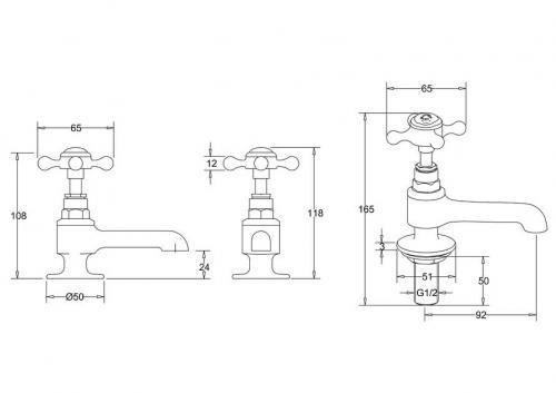 Basin Faucets - Stafford, chrome